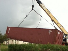 Our Shipping Container Landing at Shadi